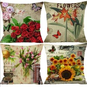 Spring Vintage Flower Pillow Covers